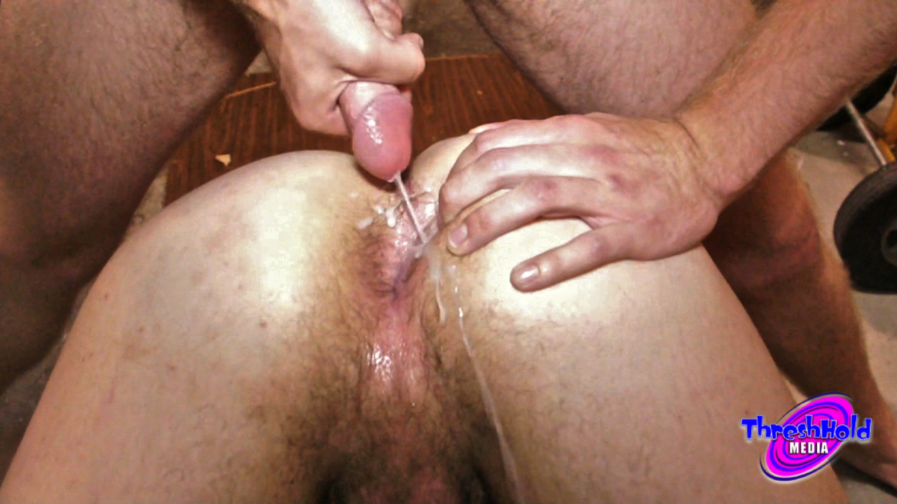 Gay fetish cum eating